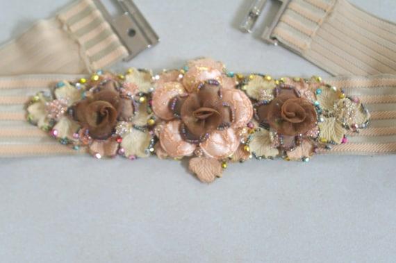 Handmade Floral Waist Belt, Fairy Elastic Belt Wa… - image 6