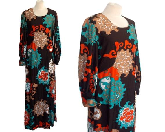 Vintage 70's Maxi Dress, Floral Hippie Dress