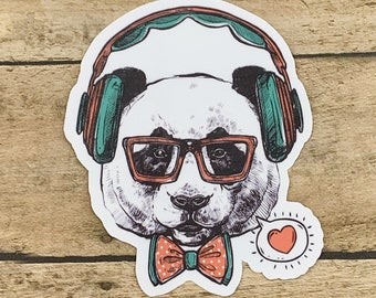 38a5cd078c Hipster Panda Sticker