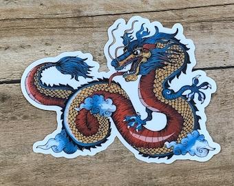 722777d19fcb21 Chinese Dragon Sticker | Dragon Decal | Waterproof Sticker