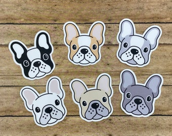 French Bulldog on Board V03 Bouledogue Français Dog Decal Car Window Sticker