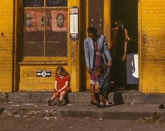 Washington DC, Schulman's Market, Pouty Girl, Yellow, Red, Urban Wall Decor, 1942