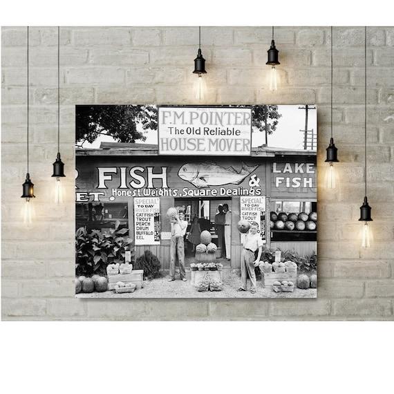 Old Birmingham Alabama Farm Stand Photo Wall Art Black White Etsy Enchanting Home Decor Stores In Birmingham Al