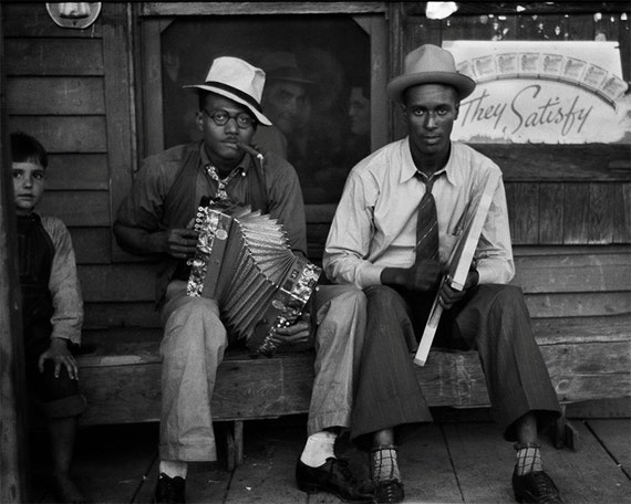 African American Musicians Photo, Black Musicians In Louisiana, Photography Print, Black and White, Wall Art, Home Decor, Blues Musicians        Update your settings