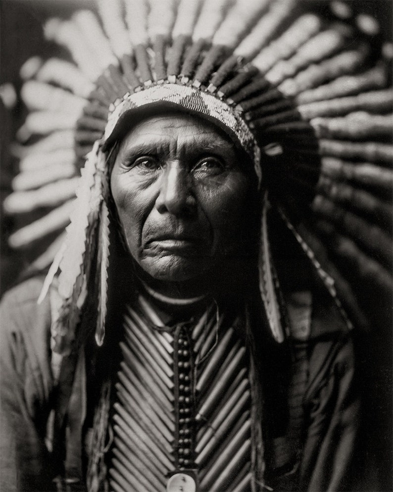 Native american photo three horses portrait photograph of american indian wearing headdress black white photography sepia photo