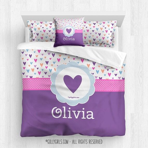 Personalized Girl S Comforter Set Custom Etsy