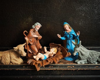 Vintage Nativity Set | Nativity Scene | Christmas Figurines | Nativity Figures | Italy