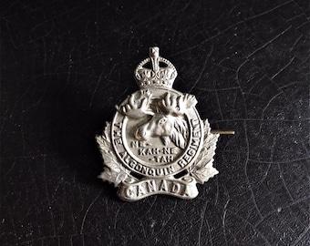 Vintage Canadian Infantry Badge | The Algonquin Regiment | Cap Badge | Ne-kah-ne-tah