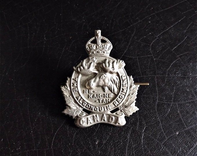 Vintage Canadian Infantry Badge | The Algonquin Regiment | Cap Badge | Ne-kah-ne-tah