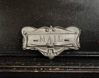 "Vintage Mail Door Slot | Postal Slot | MAIL | Metal | 9"""