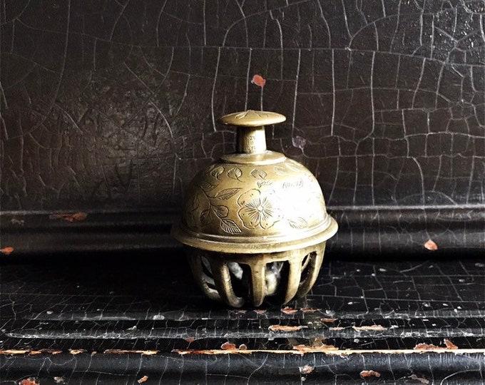 "Vintage Elephant Claw Bell | Meditation Bell | Brass | 2 3/4"""