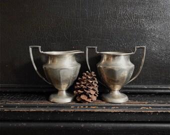 Vintage Sugar Bowl & Creamer Set | Silver Plated | Victorian Plate | Benedict Proctor | Canada