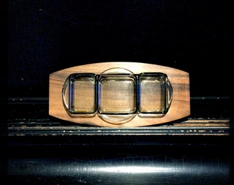 Vintage Condiment Tray | AppetizerTray | Service Platter | Midcentury | Handcrafted | Talarico Hardwood