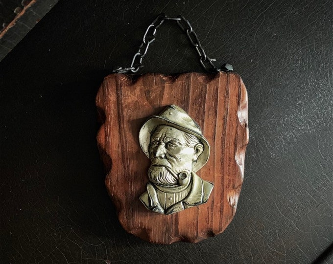 Vintage Fisherman Plaque | Sea Captain | Wall Plaque | West Germany