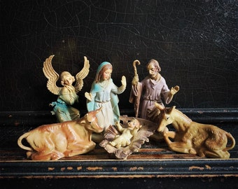 Vintage Nativity Set | Nativity Scene | Christmas Figurines | Nativity Figures