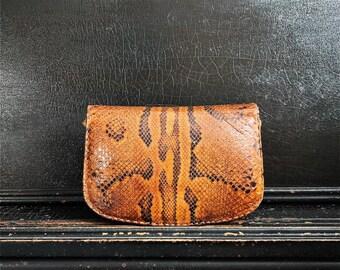 Vintage Leather Purse | Snake Skin | Hand Bag |  Handmade