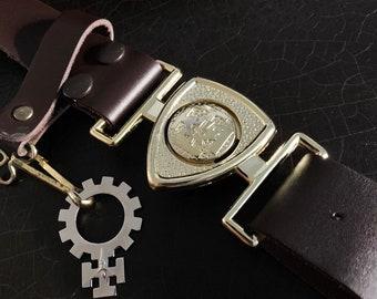 Vintage Boy Scout Belt   Canadian Boy Scout Association   Leather Belt   Interlocking Buckle   Rosary