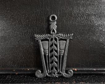 "Vintage Cast Iron Trivet | Hot Plate Coaster | Primitive Decor | Wall Decor | 8"""