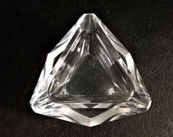 "Vintage Crystal Ashtray | Murano Mandruzzato | Midcentury | Smudge Bowl | 5"""