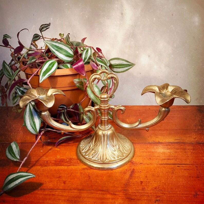 Vintage Brass Candelabrum  Candelabra  Candlestick Holder  image 0