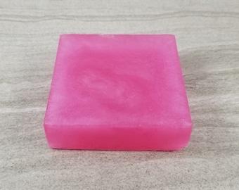 Plumeria Soap, Frangipani Floral Scent, Pink Glycerin Soap
