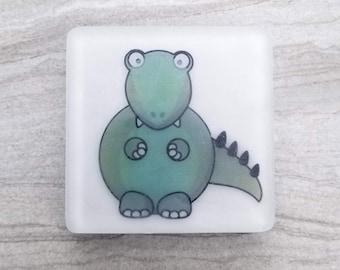 Dinosaur Soap, Dino Theme, Prehistoric Party Favors, Trex Tyranosaurus Gift, Sanitizing Novelty Soap, Decorative Printed Soap