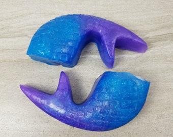 Mermaid Tail Soap, Under the Sea Party Favor, Glitter Soap, Gift for Girls, Ocean Theme, Decorative Glycerin Soap, Mermaid Decor, Beach Soap