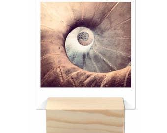 Yearly Calendar Photo Abstract Meditative Wooden Block ENG
