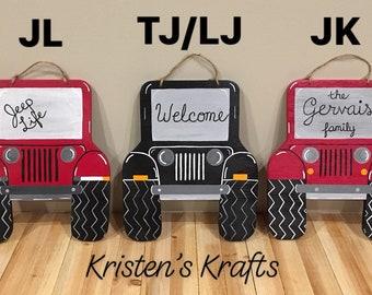 Jeep Door Hanger Accessories Home Decor Wreath Life Girl Gifts Lover Gift