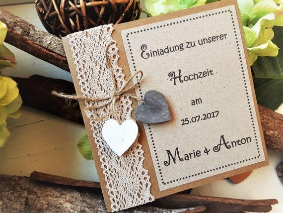 Einladung Hochzeit Vintage Hochzeitseinladung Boho Etsy