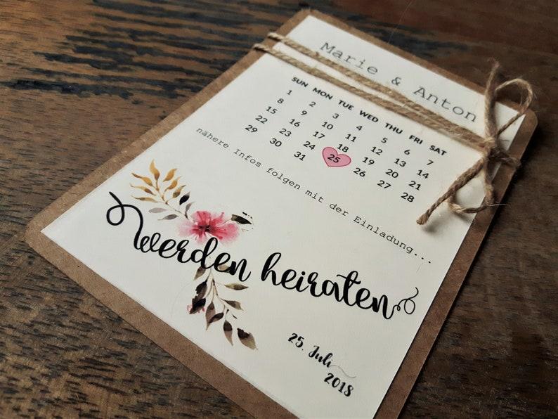 Save The Date Karten Vintage.10x Save The Date Karte Vintage Individualisiert Hochzeitseinladung Einladung Zur Hochzeit Kraftpapier Einladungskarten Hochzeit Summer
