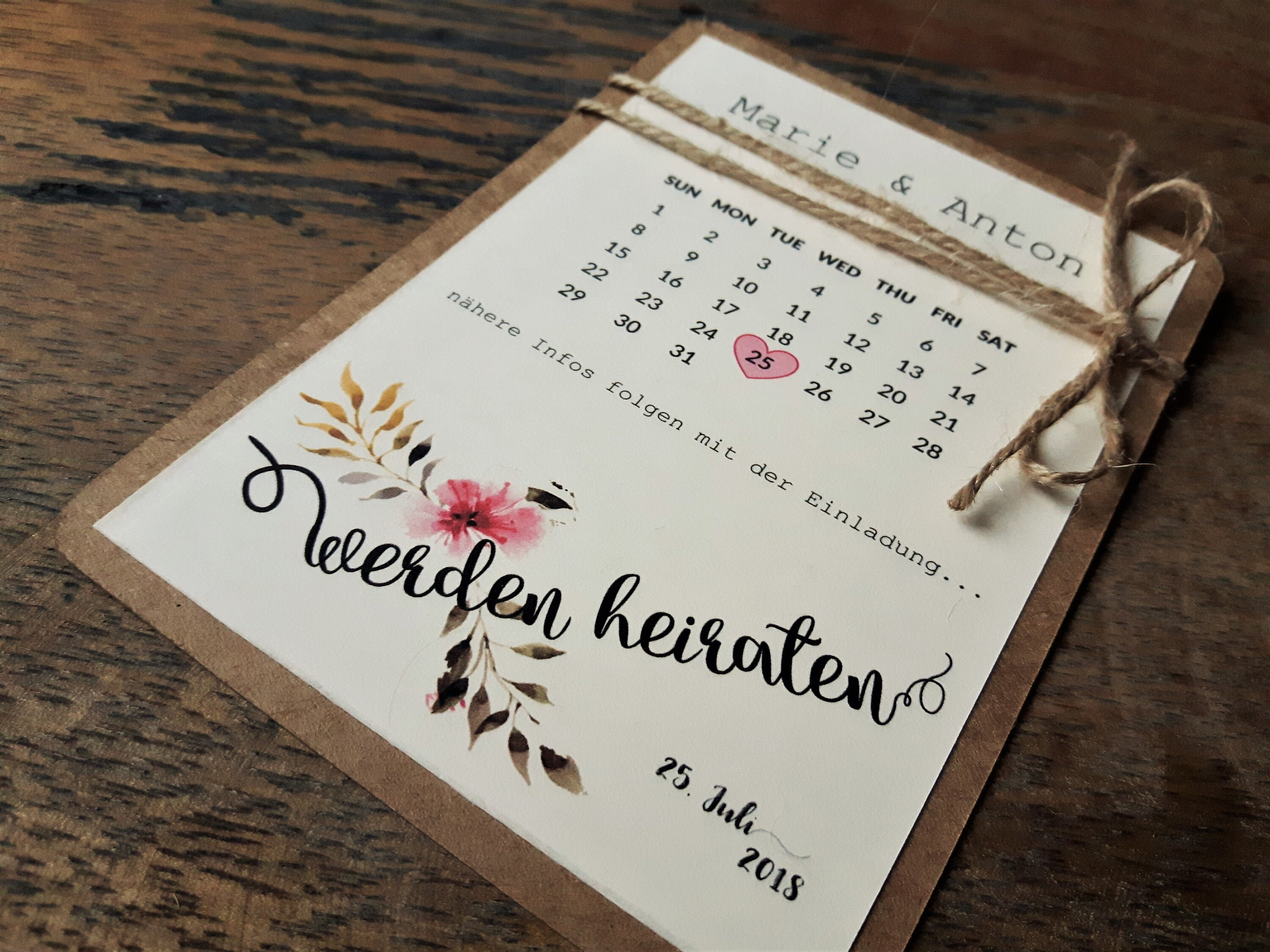 Save The Date Karte Button