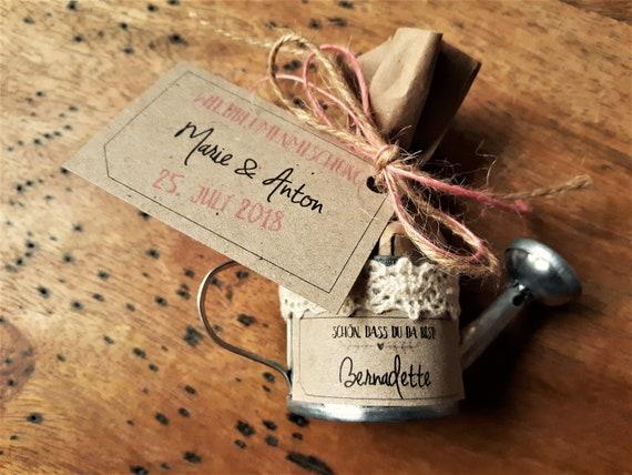 10x Gastgeschenk Hochzeit Vintage Namenskartchen Blumensamen Etsy