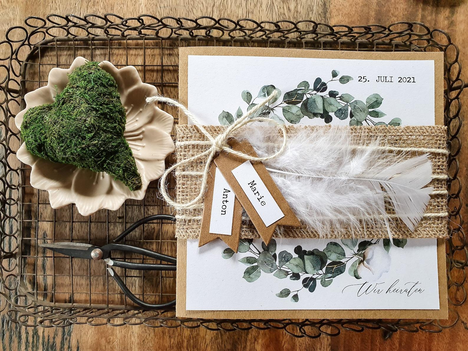 Hochzeitseinladung Vintage