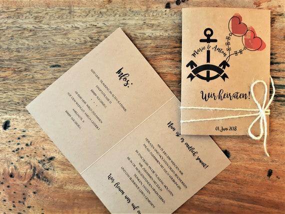 Hochzeitseinladung Einladung Zur Hochzeit Vintage Kraftpapier Etsy