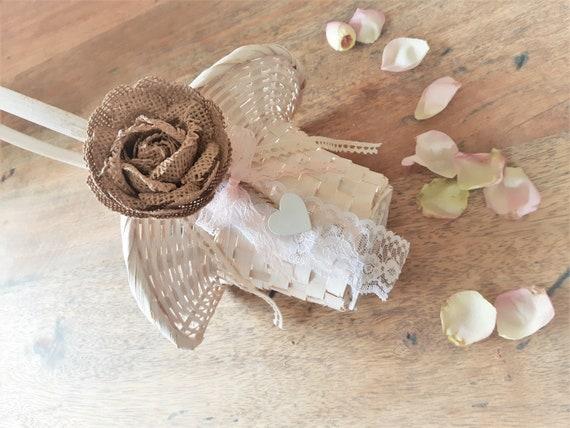 Ahnliche Artikel Wie Blumenmadchen Korb Streukorbchen Hochzeit