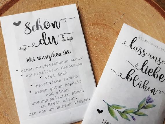 10x Gastgeschenk Hochzeit Blumensamen Vintage Etsy
