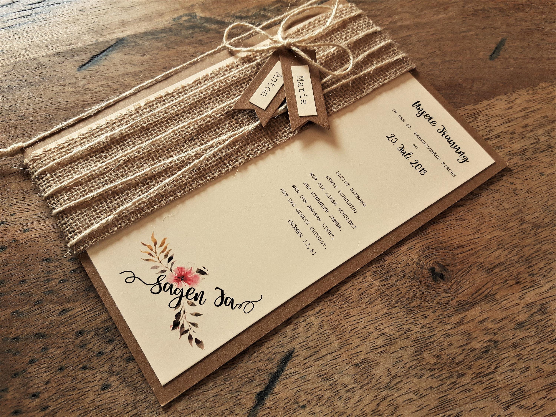 10x Kirchenheft Vintage Hochzeit Kraftpapier Programmheft Etsy