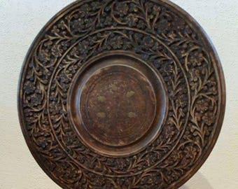 Décoration mandala à poser, bois, laiton et fer - autel, méditation, yoga
