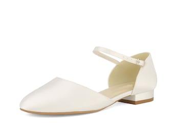 white bridesmaid shoes size 4
