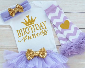 Princess Birthday Outfit, First Birthday Outfit Girl, One Birthday Bodysuit, Cake Smash, 1st Birthday Girl Shirt, Tutu Outfit, Birthday Gift