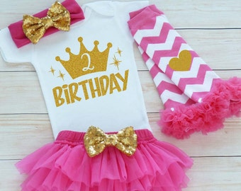 Second Birthday Outfit Girl, 2nd Birthday Shirt, 2nd Birthday Girl Outfit, Tutu Outfit, Birthday Gift, Second Birthday Girl, 2nd Birthday