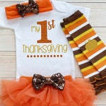 My First Thanksgiving, Baby Girl Thanksgiving Outfit, Baby Girl Shirt, Girls First Thanksgiving Bodysuit, My 1st Thanksgiving Outfit,