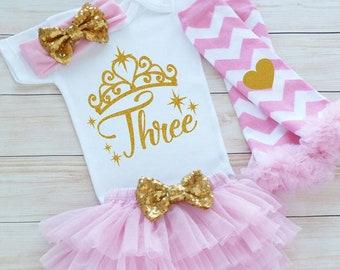 Birthday Girl, 3rd Birthday Girl Outfit, Third Birthday Outfit Girl, 3rd Birthday Outfit, Birthday Gift, Third Birthday Girl Shirt, Birthday