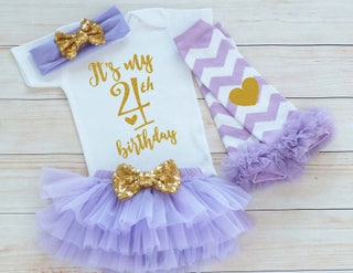 Fourth Birthday Girl Outfit, 4th Birthday Girl Shirt, 4th Birthday Outfit, Birthday Girl Gift, Fourth Birthday Girl, 4th Birthday Girl Shirt