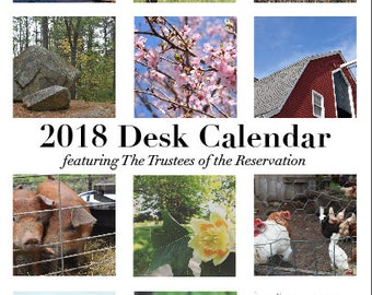 Trustees of the Reservation -  2018 Desk Calendar - Printable!