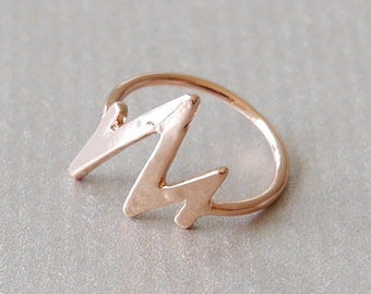 Rose gold ring Heart Knuckles band gilded knuckle ring golden ring gold rose Ring