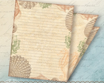 printable lined stationery steampunk stationery paper etsy