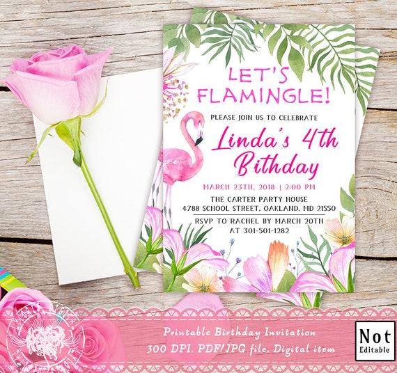 Invitation D Anniversaire Imprimable Permet De Flamingle D