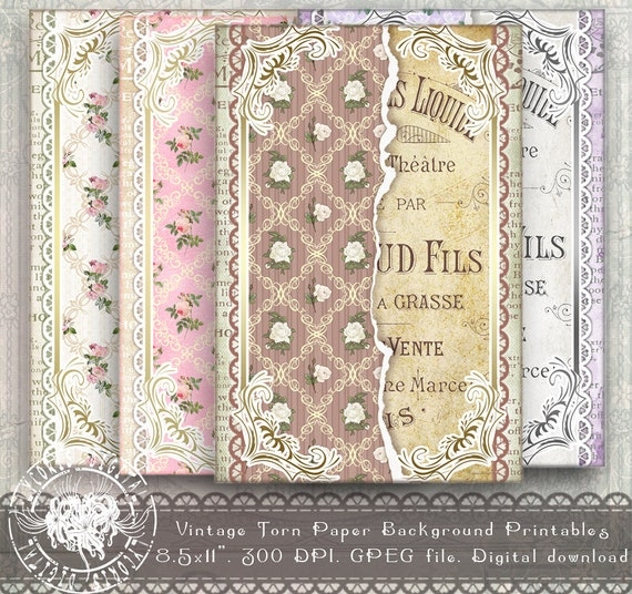French Ephemera 4x6 Printable Paper 4x6 Digital Etsy